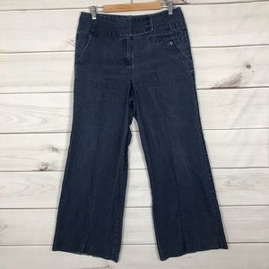 Larry Levine Wide leg Jeans waist is 32 Inches